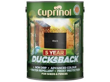 Ducksback 5 Year Waterproof for Sheds & Fences Black 5 litre